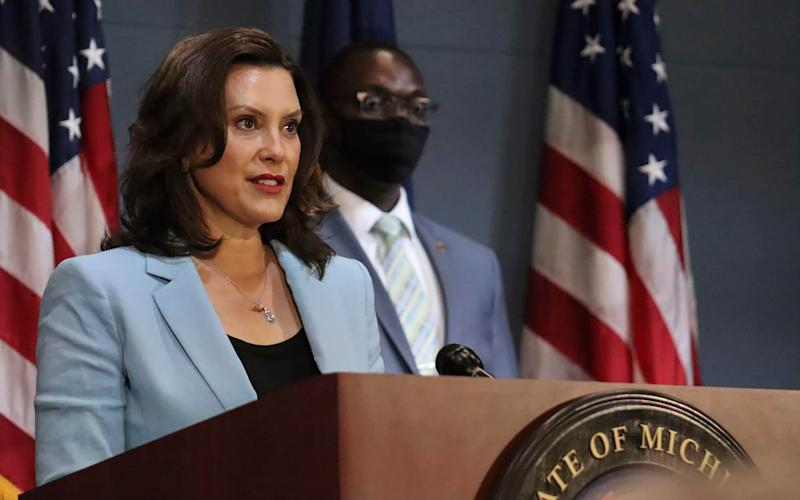 Governor Gretchen Whitmer has ordered people to wear masks in stores to reduce the risk of spreading coronavirus - Michigan Office of the Governor via AP