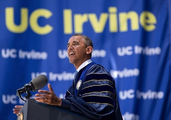 President Obama Urges Action on Climate at Graduation Address