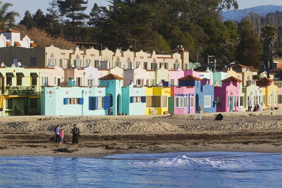 """<p><a href=""""https://go.redirectingat.com?id=74968X1596630&url=https%3A%2F%2Fwww.tripadvisor.com%2FTourism-g32168-Capitola_California-Vacations.html&sref=https%3A%2F%2Fwww.thepioneerwoman.com%2Fjust-for-fun%2Fg34836106%2Fsmall-american-town-destinations%2F"""" rel=""""nofollow noopener"""" target=""""_blank"""" data-ylk=""""slk:This bright and vibrant town"""" class=""""link rapid-noclick-resp"""">This bright and vibrant town</a> is a quiet surf destination for some, a trendy place to shop and eat for others and a place where you can fish off of the wharf if you fit somewhere in between.</p>"""