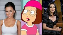 "<p>You wouldn't know this unless you were mining IMDb on a chill Monday night, but Meg was originally played by Lacey Chabert before being replaced by Mila Kunis. Apparently, Lacey was <a href=""https://screenrant.com/lacey-chabert-family-guy-meg-departure-reason/"" rel=""nofollow noopener"" target=""_blank"" data-ylk=""slk:too busy with school"" class=""link rapid-noclick-resp"">too busy with school</a> and <em>Party of Five,</em> two things of equal importance, to be sure. </p>"