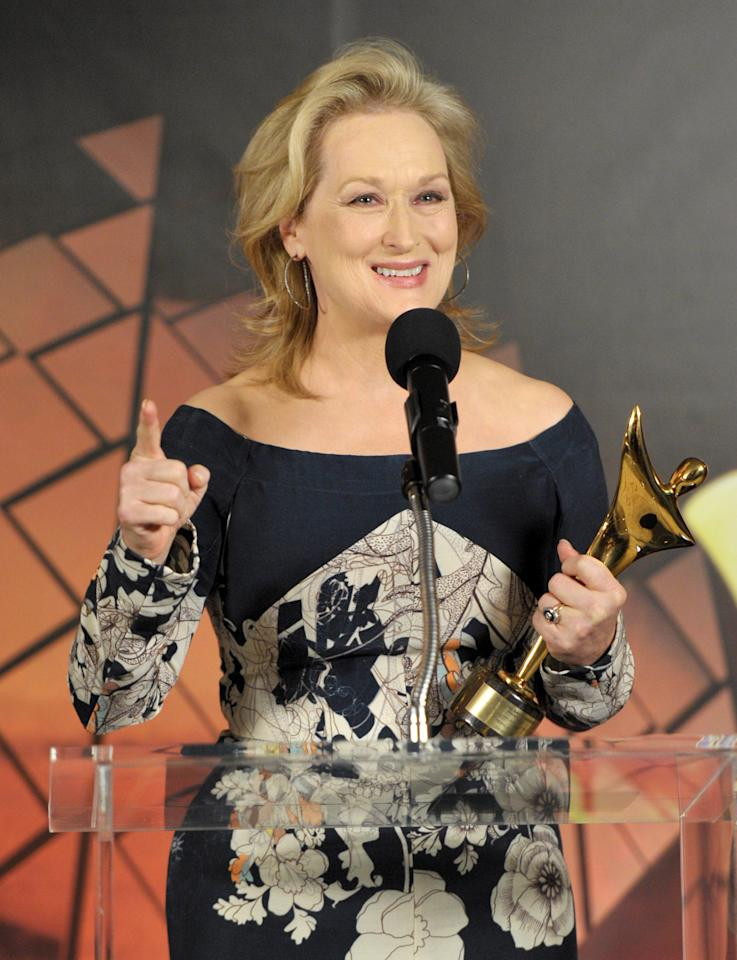 WEST HOLLYWOOD, CA - JANUARY 27:  Actress Meryl Streep attends the Australian Academy Of Cinema And Television Arts International Awards Ceremony at Soho House on January 27, 2012 in West Hollywood, California.  (Photo by John Shearer/Getty Images)