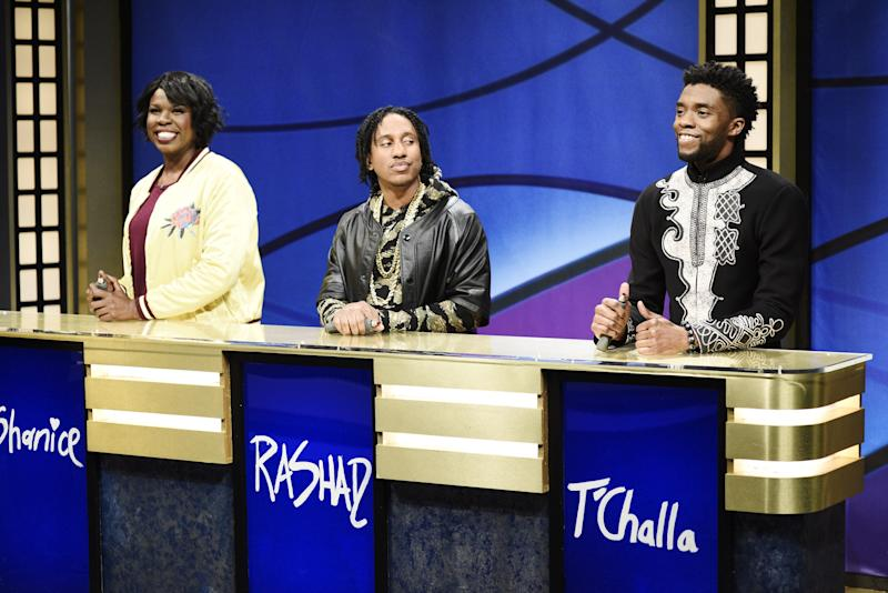Image result for black jeopardy chadwick boseman gifs