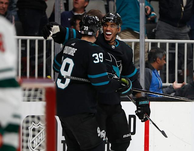 Can Logan Couture's newest linemate help jump-start his season?