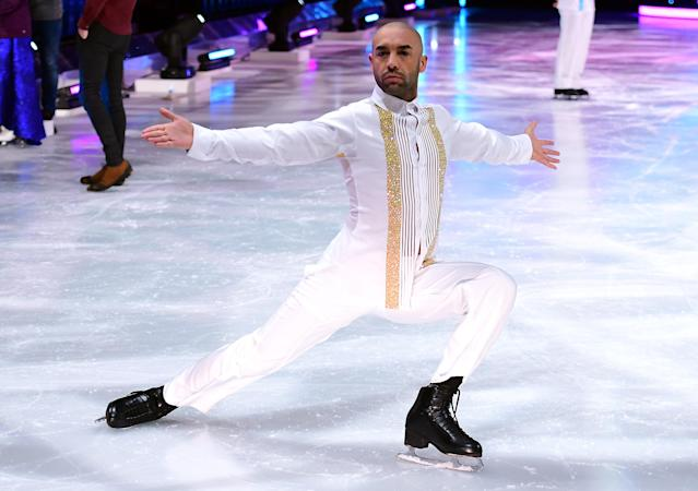 Alex Beresford took part in <em>Dancing On Ice</em> in 2018. (Getty Images)
