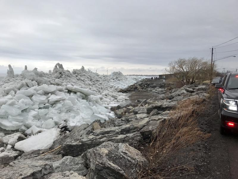 Ice build-up along Lake Erie, Feb 2019, submitted: sean crotty