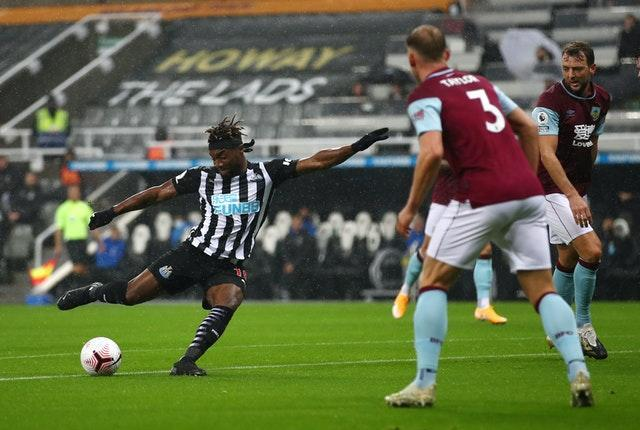 Allan Saint-Maximin opened the scoring on Tyneside