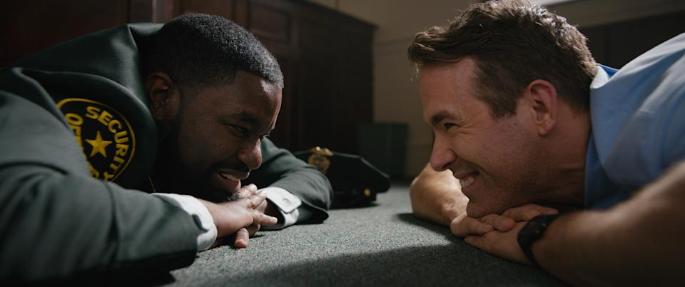 Lil Rel Howery and Ryan Reynolds in Free Guy