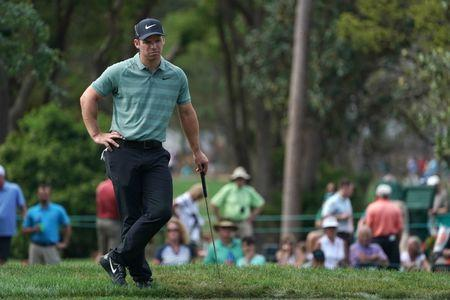 Mar 11, 2018; Palm Harbor, FL, USA; Paul Casey stands outside the green on the 16th during the final round of the Valspar Championship golf tournament at Innisbrook Resort - Copperhead Course. Jasen Vinlove-USA TODAY Sports