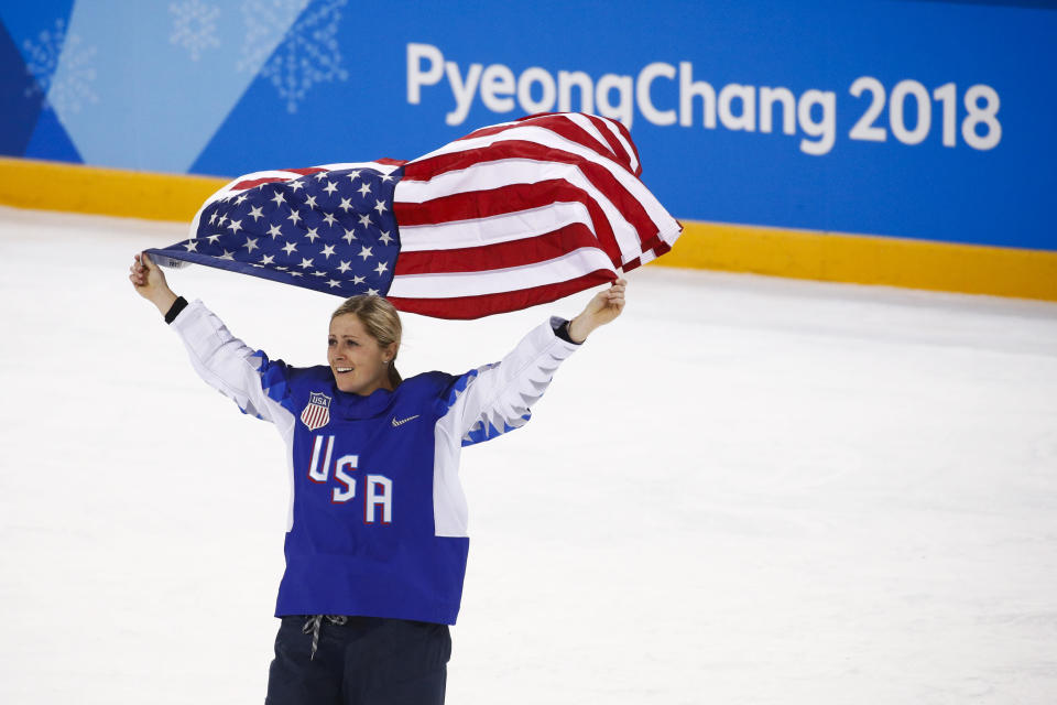 Gigi Marvin and the U.S. women's hockey team finally snapped a 20-year gold drought. (AP)