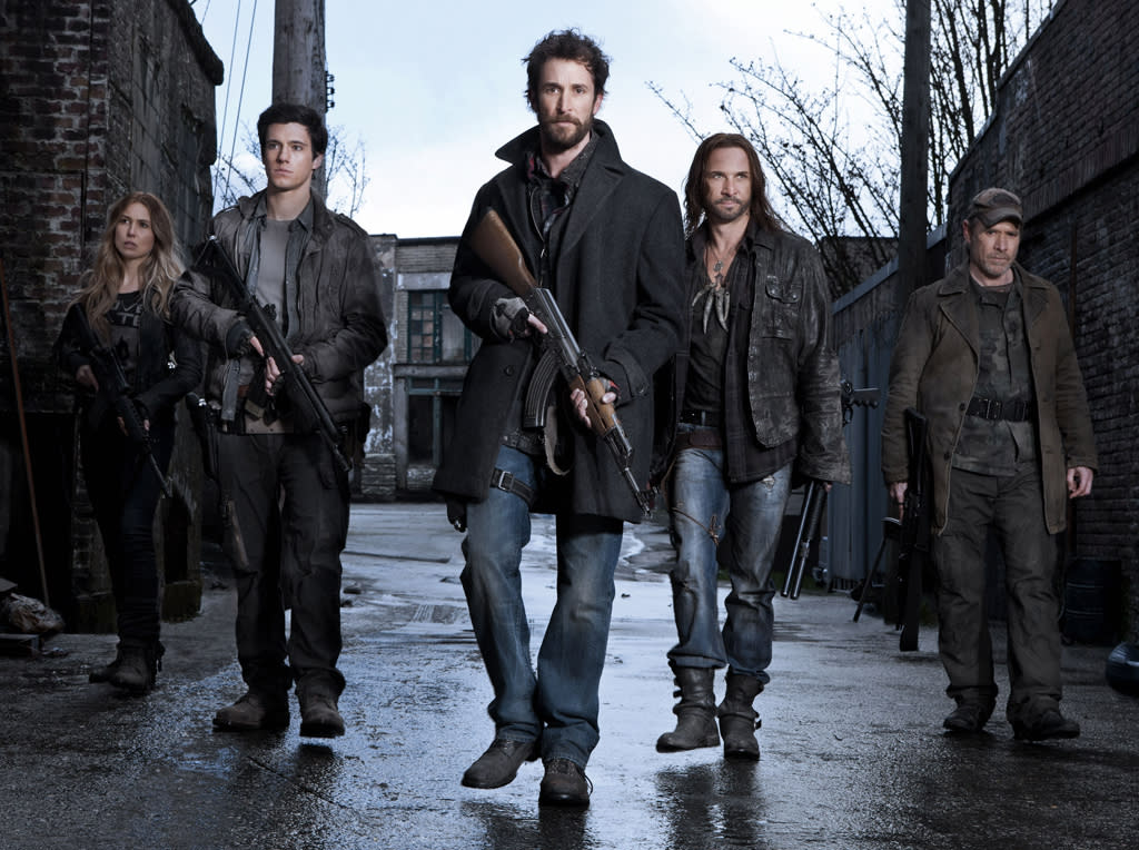 "<P><B>""Falling Skies"" (TNT)</b><br><br><b>Returns June 17</b><br><br>Season 1 of the Steven Spielberg exec-produced post-apocalyptic series ended on a ""Close Encounters"" note, with history teacher turned rebel soldier Tom Mason (Noah Wyle) willingly boarding a spaceship for a face-to-face encounter with one of the invading ""Skitters."" For his own good, we hope the aliens are hospitable hosts. Find out his fate -- as well as what's up with his three sons and kinda-sorta love interest Anne (Moon Bloodgood) -- in the two-hour season premiere.</p>"