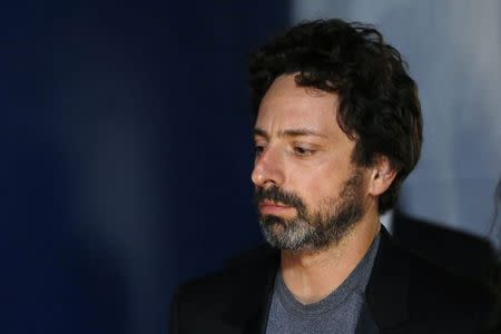 Google Inc co-founder Sergey Brin arrives on the red carpet during the 2nd Annual Breakthrough Prize Awards at the NASA Ames Research Center in Mountain View, California, November 9, 2014. REUTERS/Stephen Lam