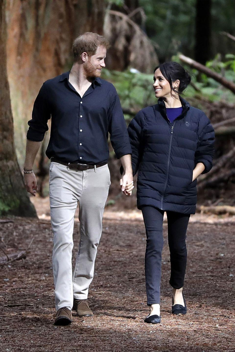 <p>The couple took an intimate walk through Redwoods Tree Walk in New Zealand on during their royal tour. </p>