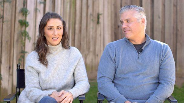 PHOTO: Ceri and Rory Devine talk to ABC News about their daughter Rhys' progress since receiving a groundbreaking treatment for her spinal muscular atrophy.  (ABC News )