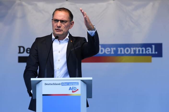 Right wing Alternative for Germany campaigns in Berlin