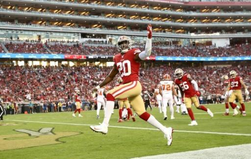 The San Francisco 49ers in action at the Levi's Stadium in California