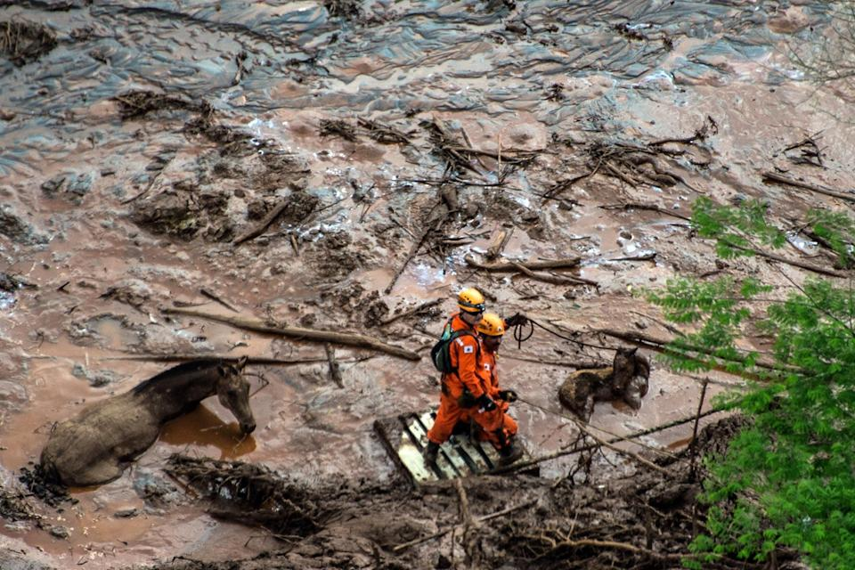 <p>Two dams containing by-products of mining work collapsed</p> (Christophe Simon/AFP/Getty Images)