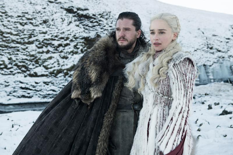 Jon Snow and Daenerys in chillier times.  (Photo: HBO)