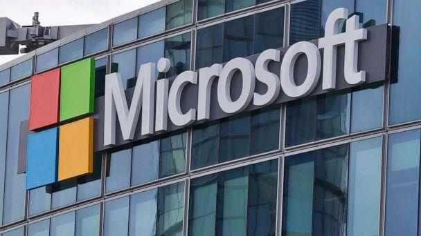 PHOTO: In this April 12, 2016, file photo, the Microsoft logo is shown in Issy-les-Moulineaux, France. (Michel Euler/AP, FILE)