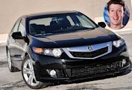 Mark Zuckerberg is often seen in a black Acura TSX. The young billionaire has among the cheapest of the rides: the car is valued at about $30,000. information via autoevolution.com.