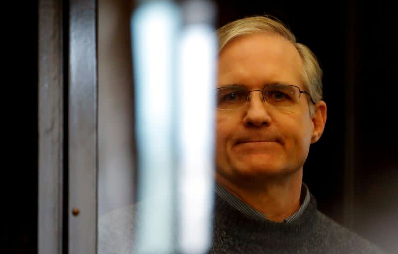 FILE PHOTO: Verdict hearing of former U.S. Marine Paul Whelan, who was detained and accused of espionage, in Moscow