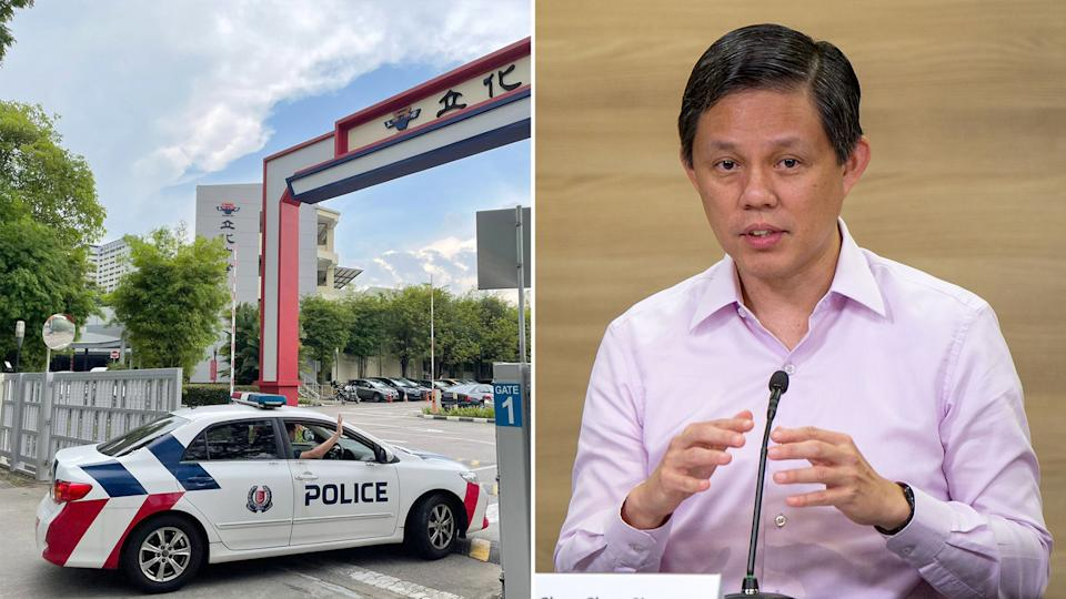 Education Minister Chan Chun Sing on Tuesday (27 July) gave a Ministerial Statement on last week's death of a River Valley High School student. (Yahoo News Singapore file photos)