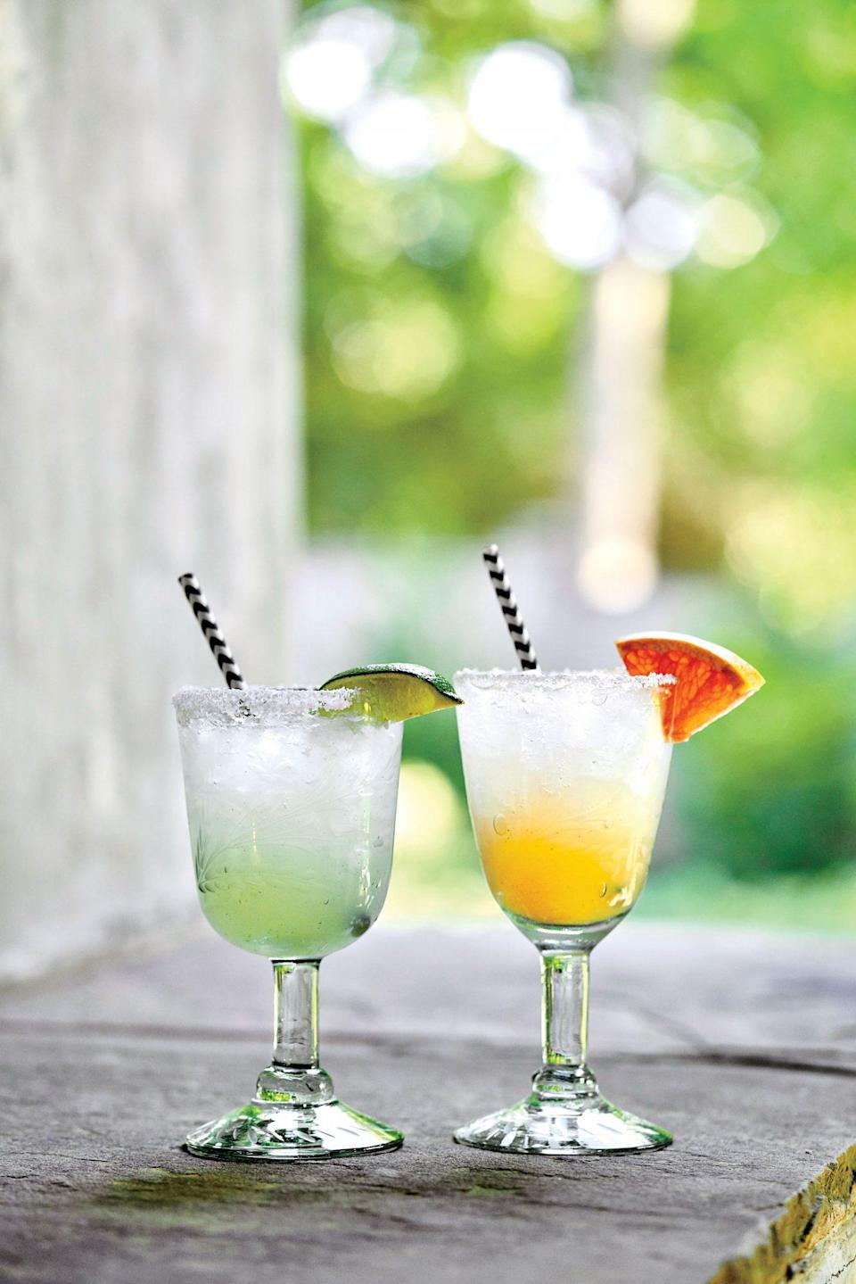 """<p><strong>Recipe: <a href=""""https://www.southernliving.com/recipes/mcguires-paloma-recipe"""" rel=""""nofollow noopener"""" target=""""_blank"""" data-ylk=""""slk:McGuire's Paloma"""" class=""""link rapid-noclick-resp"""">McGuire's Paloma</a></strong></p> <p>A paloma is like a fruitier, mellow version of a margarita with grapefruit juice, and this recipe gives the perfect opportunity to add Twist of Grapefruit Topo Chico. </p>"""