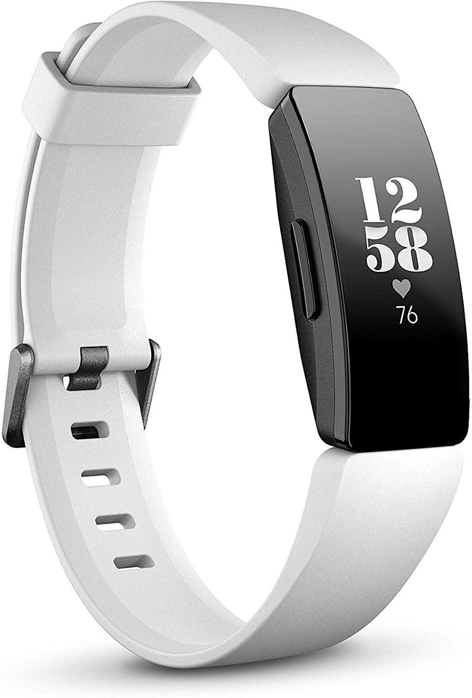 <p>This <span>Fitbit Inspire Fitness Tracker</span> ($80, originally $100) counts steps and tracks heart rate.</p>