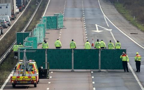 The road closure led to delays of up to seven miles  - Credit: Gareth Fuller /PA