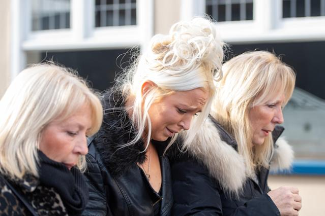 Chloe Haines leaves Chelmsford Magistrates' Court in 2019. (PA Images)