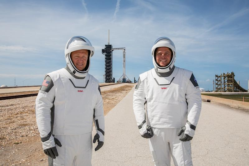 Astronauts Robert Behnken (right) and Douglas Hurley (left) are on course to make history: NASA/Kim Shiflett/PA Wire