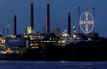 FILE PHOTO: Headquarters and main plant of German pharmaceutical and chemical maker Bayer AG in Leverkusen