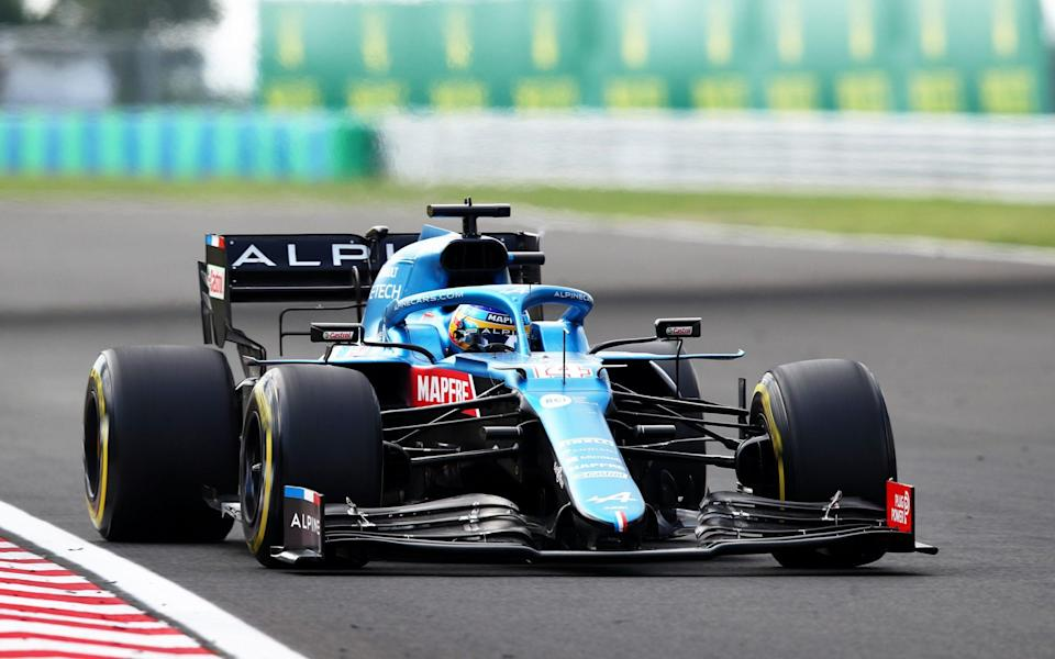 Fernando Alonso of Spain driving the (14) Alpine A521 Renault during the F1 Grand Prix of Hungary at Hungaroring on August 01, 2021 in Budapest, Hungary. - GETTY/Joe Portlock - Formula 1