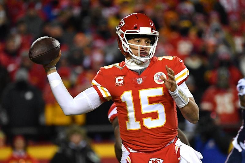 sneakers for cheap c3532 eed41 Patrick Mahomes, who led the NFL with 50 touchdown passes last season, is  part