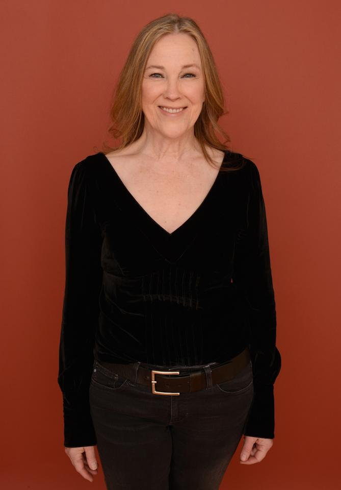 PARK CITY, UT - JANUARY 23:  Actress Catherine O'Hara poses for a portrait during the 2013 Sundance Film Festival at the Getty Images Portrait Studio at Village at the Lift on January 23, 2013 in Park City, Utah.  (Photo by Larry Busacca/Getty Images)