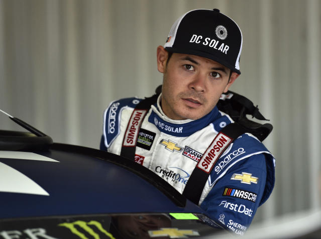 "<a class=""link rapid-noclick-resp"" href=""/nascar/sprint/drivers/3156/"" data-ylk=""slk:Kyle Larson"">Kyle Larson</a> hasn't finished in the top 10 in any of his previous four Sonoma starts. (AP Photo/Derik Hamilton)"