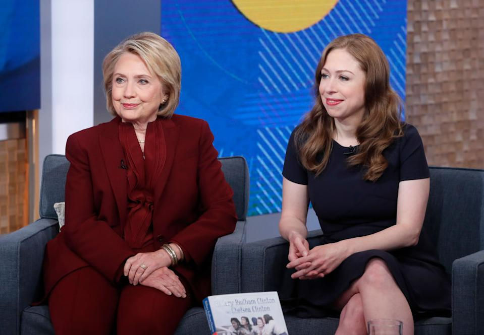 Hillary and Chelsea Clinton have spoken out in support of the Duchess of Sussex [Photo: Getty]