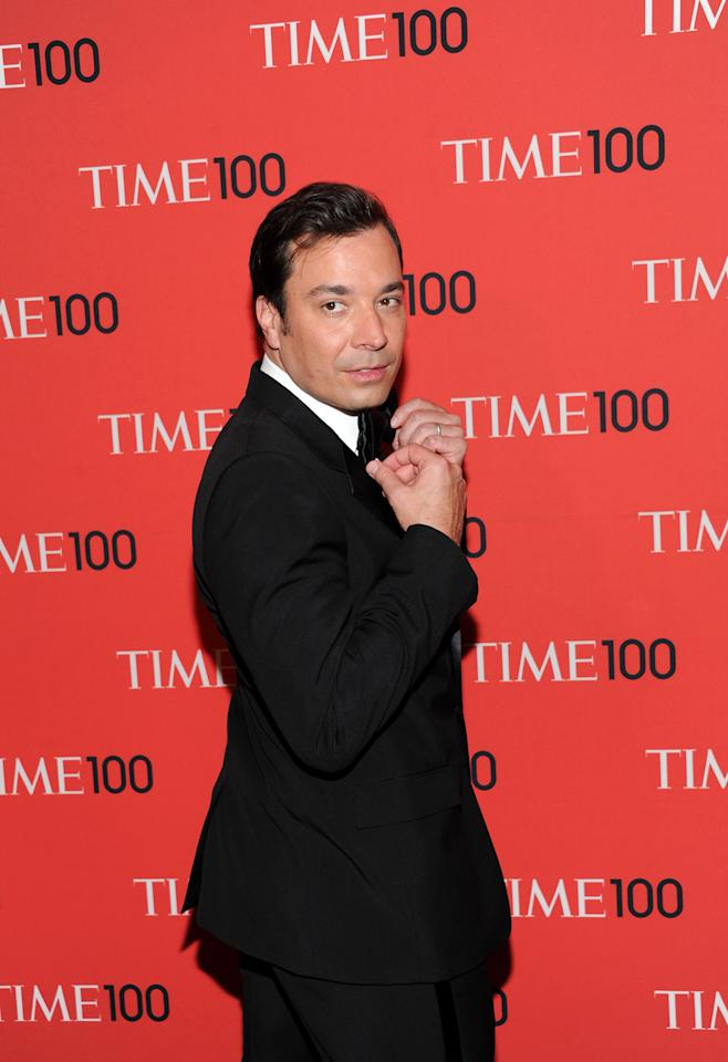"Talk show host Jimmy Fallon attends the TIME 100 Gala celebrating the ""100 Most Influential People in the World"" at Jazz at Lincoln Center on Tuesday April 23, 2013 in New York. (Photo by Evan Agostini/Invision/AP)"