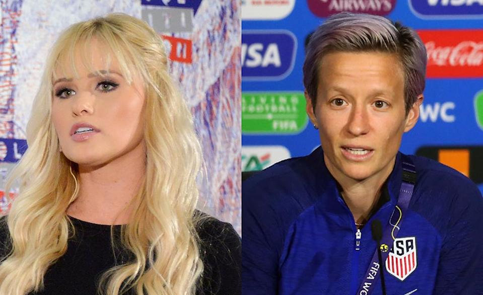 """Tomi Lahren accused soccer star Megan Rapinoe of having an """"attitude problem."""" (Photos: Getty Images)"""