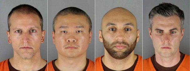 PHOTO: Ex-Minneapolis Police officers from left, Derek Chauvin, Tou Thao, J. Alexander Kueng and Thomas Kiernan Lane. (Hennepin County Jail/AFP via Getty Images)