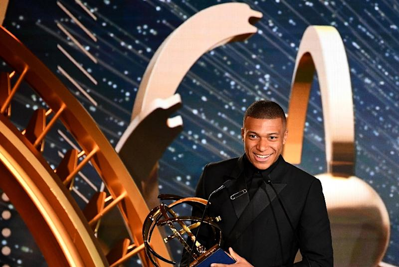Mbappe was named the Ligue 1 player of the season on Sunday