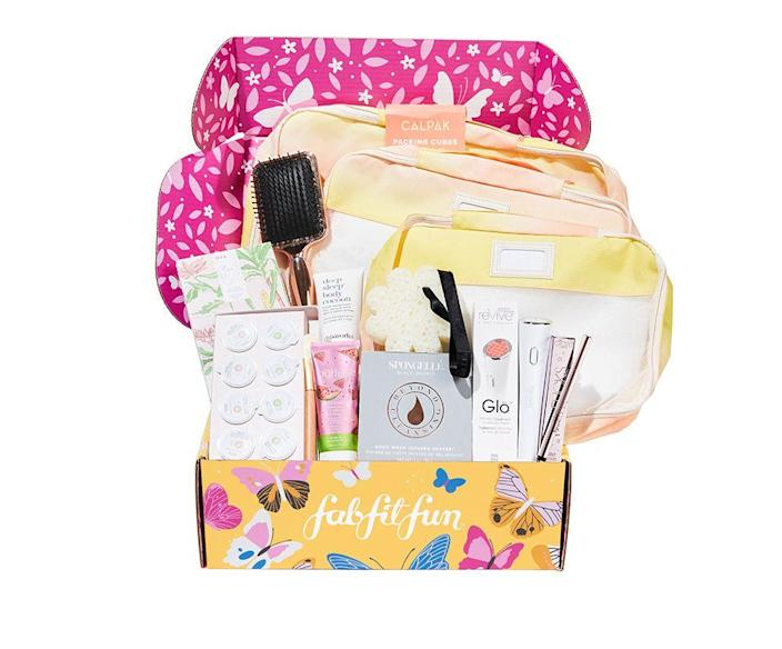 """<p>This box has a little of everything: beauty, fashion, accessories, seasonal items, even fun little goodies like packing cubes or cooking utensils. It comes four times a year, so it's like a little home refresh every season.</p><p><strong>Price:</strong> $50/box</p><p><a class=""""link rapid-noclick-resp"""" href=""""https://go.redirectingat.com?id=74968X1596630&url=https%3A%2F%2Ffabfitfun.com%2Fget-the-box&sref=https%3A%2F%2Fwww.goodhousekeeping.com%2Fholidays%2Fmothers-day%2Fg31992924%2Fbest-subscription-boxes-for-moms%2F"""" rel=""""nofollow noopener"""" target=""""_blank"""" data-ylk=""""slk:BUY NOW"""">BUY NOW</a></p><p><strong>RELATED:</strong> <a href=""""https://www.goodhousekeeping.com/beauty/g5005/makeup-subscription-boxes/"""" rel=""""nofollow noopener"""" target=""""_blank"""" data-ylk=""""slk:The Best Makeup Subscription Boxes to Check Out This Year"""" class=""""link rapid-noclick-resp"""">The Best Makeup Subscription Boxes to Check Out This Year</a></p>"""