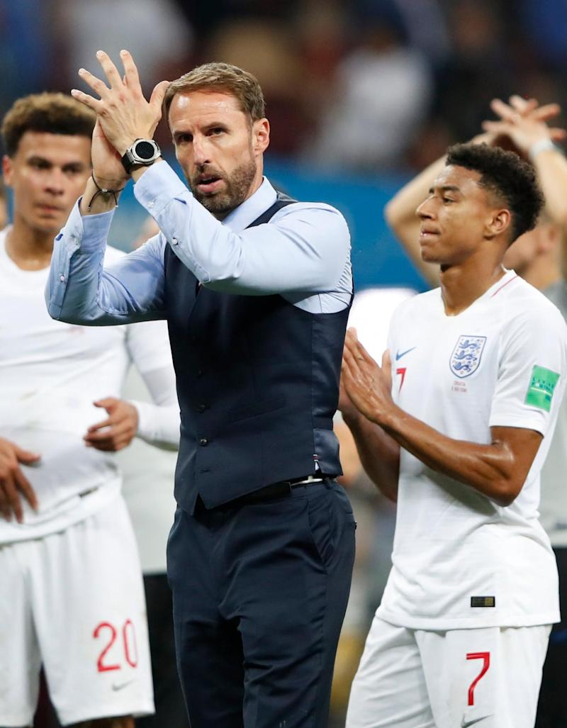 Gareth Southgate supports his squad (AP)