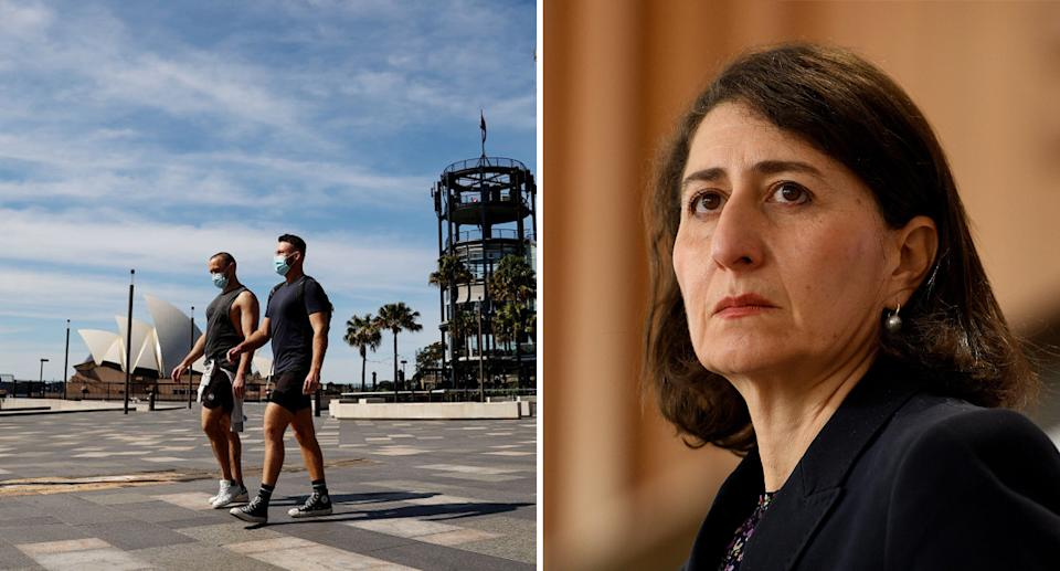 NSW Premier Gladys Berejiklian has been touting upcoming freedoms to residents. Source: Getty/ AAP