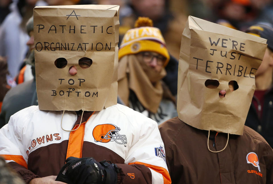 The Browns haven't given fans much to cheer about beyond high draft picks this century. (AP)