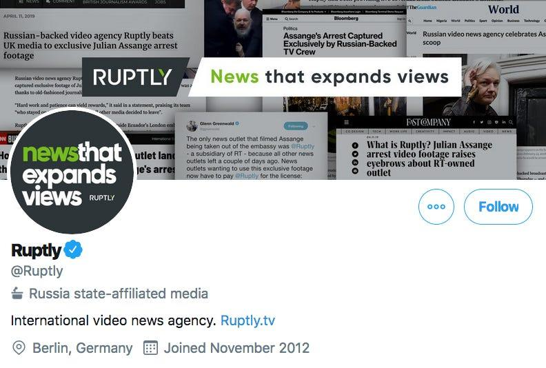 "Ruptly is owned by RT, a Kremlin propaganda outfit. <p class=""copyright"">Shona Ghosh/Business Insider</p>"