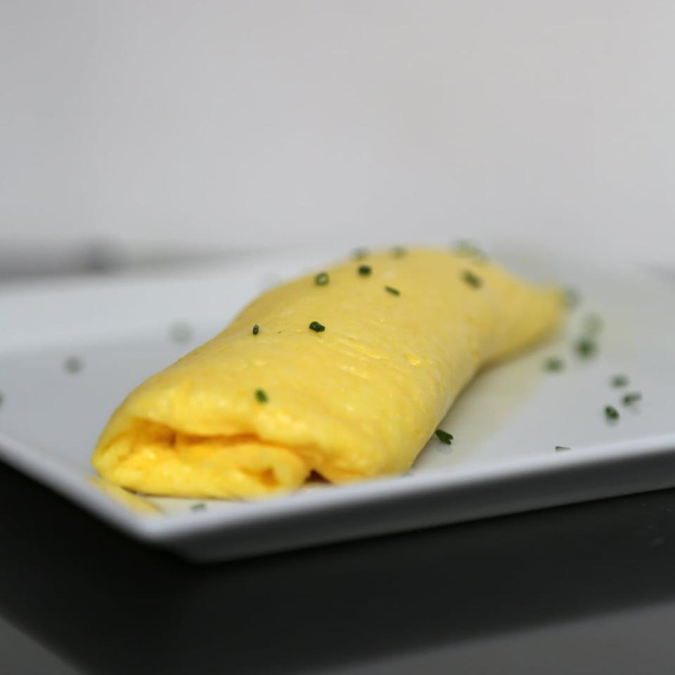 """<p>Most people know how to scramble an egg, but the next step is a <a href=""""https://www.popsugar.com/food/French-Omelet-28163008"""" class=""""ga-track"""" data-ga-category=""""Related"""" data-ga-label=""""https://www.popsugar.com/food/French-Omelet-28163008"""" data-ga-action=""""In-Line Links"""">tender French omelet</a>. Once you're mastered this classic, its time to get experimenting with a variety of fillings, such as <a href=""""https://www.popsugar.com/food/Spring-Omelet-Recipes-29236593"""" class=""""ga-track"""" data-ga-category=""""Related"""" data-ga-label=""""https://www.popsugar.com/food/Spring-Omelet-Recipes-29236593"""" data-ga-action=""""In-Line Links"""">asparagus, pesto, and goat cheese</a>.</p>"""