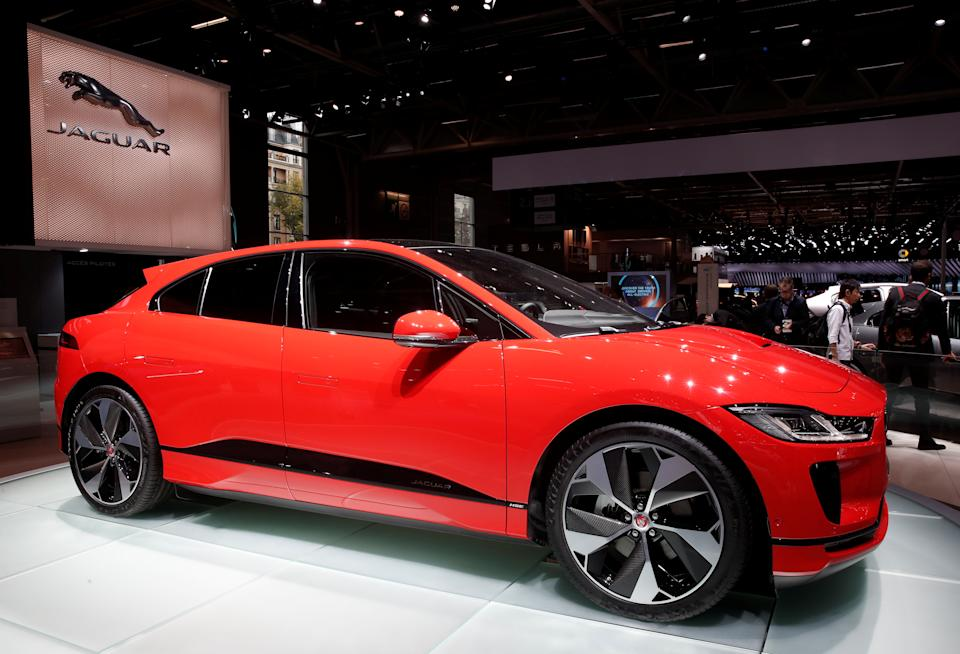 The Jaguar I-PACE is seen during the first press day of the Paris auto show, in Paris, France, October 2, 2018. REUTERS/Benoit Tessier