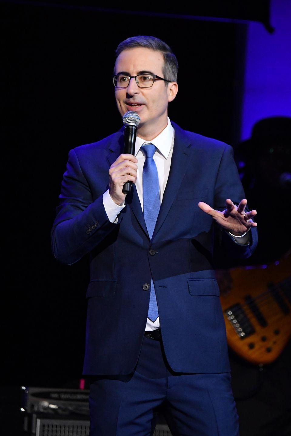 """<p>The late night <a href=""""https://www.menshealth.com/entertainment/a32800925/last-week-tonight-john-oliver-defund-the-police/"""" rel=""""nofollow noopener"""" target=""""_blank"""" data-ylk=""""slk:host"""" class=""""link rapid-noclick-resp"""">host</a>'s glasses are almost as iconic as his deep dives into important issues that plague American society. </p>"""