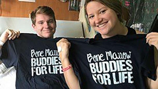 PHOTO: Jack and his older sister, Shelby pose with 'Bone Marrow Buddies for Life' t-shirts. (Courtesy Jack Santos)