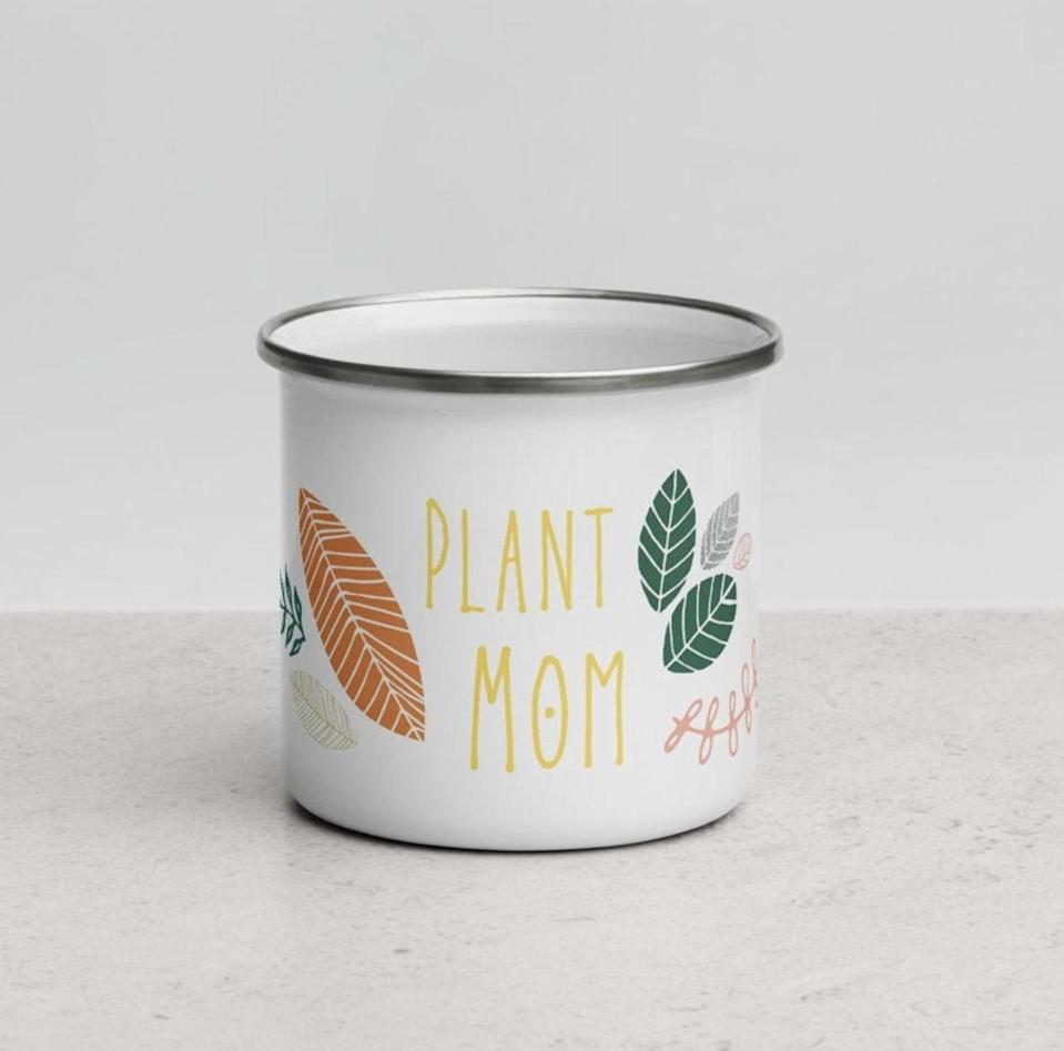 <p>Your plant-obsessed friend needs this <span>MyBackyardFrontier Plant Mom Mug</span> ($20) in her life.</p>